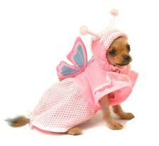 NEW Adorable Pink Butterfly Hooded Costume Dog Dress Pet Clothing (Choose Size)