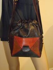 Just Saint Jacques  Snakeskin Leather Drawstring Shoulder Bag Gently Used