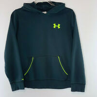 UNDER ARMOUR Loose Fit Youth Pullover Hooded Sweatshirt Jacket Black Size L