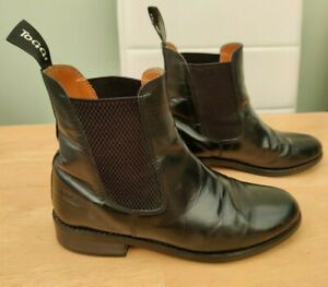 TOGGI ankle jodphur riding boots size 1uk 3 eu 36 black leather