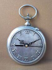 Pendulette ÉTAIN 92% forme montre gousset pendule horloge déco MARCHE tin clock