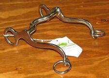 "NWT Keyston Bros. Walking Horse Medium Port Curb Bit 4.25"" Mouth Short Shanks"