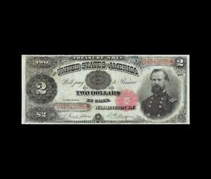"GORGEOUS 1891 $2 TREASURY ""McPHERSON"" STRONG VERY FINE"