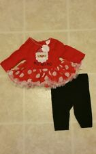 youngland baby christmas santa girls outfit 0-3 months