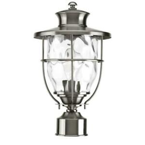 Progress Lighting Beacon Collection Post Lantern Outdoor Clear Stainless Steel