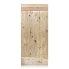 "Alessandro Design - Unfinished Knotty Alder Barn Door 36""x80"" (Free Shipping)"
