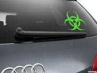 Biohazard Car Sticker Styling Window Decal, Neon Green