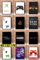 Boy Girl Gaming Gamer Print Picture Wall Art Gift Bedroom Poster A5 A4 A3