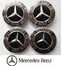 4 X 75mm Mercedes Benz Alloy Wheel Centre Caps Black S ML G SL SLK  A1714000025