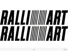3 X RALLIART LOGOS GRAPHICS STICKERS DECALS MITSUBISHI