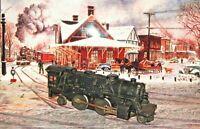 Lionel Post War O Gauge 2-4-2  Steam Engine #1120 & 4 Lionel Model Train Cars