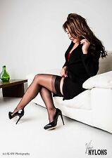 Calze di collant autoreggenti RETRO nylon ASSOLUTAMENTE alla moda Cuban CALCAGNO