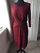Black & Red Jersey Hobbs Size 14 Dress
