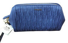 New Coach Twisted Leather Large  Wristlet Porcelain Blue Great Bridesmaid Gifts!
