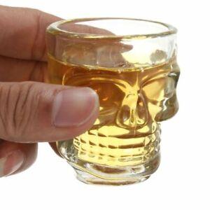 Skull Head Shot Glass Cup Wine Mug Beer Glass Mug Crystal Whisky Vodka cup 4 pcs