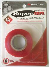 "Thermo-Web Double-Sided Super Strong Red Line Tape - 4103 - 3/4"" inch wide"