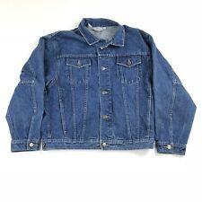 Vintage Forenza Denim Jean Trucker Jacket Size Women's L Button Front 4 Pockets