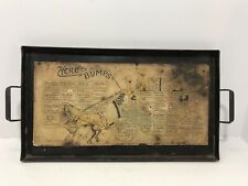 Antique Liquor Beer Metal Horse Advertising Tray Here's Bumps CP Meter Ludwig Co