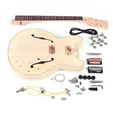 DIY ES-335 Style Electric Guitar Kit Semi Hollow Guitar