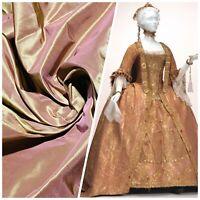 NEW 100% Silk Taffeta Fabric - Solid Rose Gold Iridescent