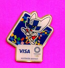 2020 TOKYO OLYMPIC GAMES PIN VISA JUDO PIN MASCOT MIRAITOWA PIN