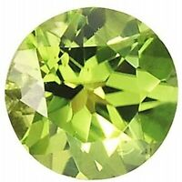 PERIDOT GEM ROUND CUT ARIZONA .5 CT LIME GREEN GENUINE FACETED NATURAL LOOSE 4mm