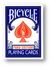 Limited Edition Bicycle Faro (Blue) Playing Cards Poker Spielkarten Cardistry