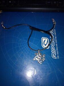 Halskette echt Leder Damen Kette Halsschmuck Schmuck Necklace Spirale Rillen Neu