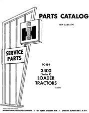 IH Farmall 3400 Series A Loader Tractor Parts manual