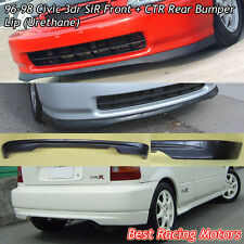 SIR Style Front Lip (PU) + CTR Style Rear Lip (PU) Fit 96-98 Honda Civic 3dr