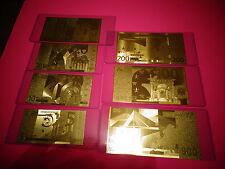 A LOT OF 7 -24 KARAT GOLD EURO € -European Union BILL *2002* IN PVC RIGID HOLDER
