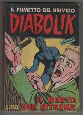 DIABOLIK prima serie N.13  ingoglia  IL MORTO CHE RITORNA originale 1964 1a I