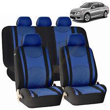 BLUE AIRBAG & SPLIT Bench SEAT COVERS 9pc SET for HONDA PILOT