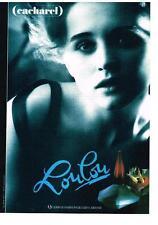 PUBLICITE ADVERTISING  1989   CACHAREL  parfum LOULOU
