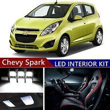 7 pcs LED Xenon White Light Interior Package Kit for Chevy Spark 2012-2017