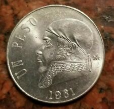 Mexico 1970 México Mexican Un Peso José María Morelos Pavon Moneda Coins Qty: 2
