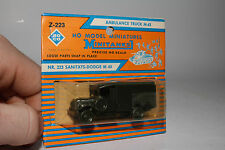 ROCO MINITANKS Z-223 AMBULANCE TRUCK M-43 MILITARY, NEW IN BOX