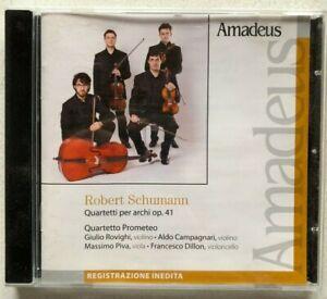 Robert Schumann Quartetti per archi Quartetto Prometeo Inedito Amadeus CD 2011