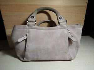 Vtg Womens Cole Haan Genuine Suede Leather 2 Handle Handbag Purse