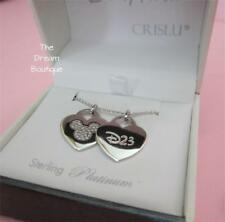 Disney D23 Expo CRISLU Heart Sliding Necklace Limited Edition 50 NWT