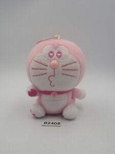 "Doraemon B2408 Pink Sk Japan Mascot keychain Plush 4"" Stuffed Toy Doll Japan"