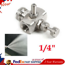 "Air Atomizing Nozzle, 1/4 "" Stainless Steel Air Misting Fog Nozzle Spray Nozzle"