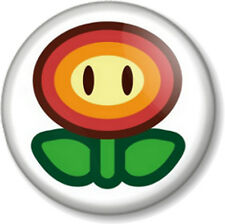 "Super Mario Brothers Fire Flower - 1"" 25mm Pin Button Badge Bros Nintendo Game"