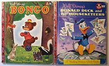 2 Books! BONGO 1948 1st DONALD DUCK & THE MOUSEKETEERS 1956 1st MM Club Books Z1