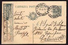STORIA POSTALE REGNO 1920 Intero Postale 15c Fabbrica Pianoforti USATO (FM6)
