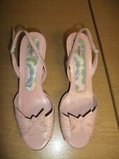 Ladies Sandals Ted Baker powder pink Selena UK 6 EU 39, slingback, used 3386