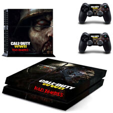 Sony PS4 Playstation 4 Console Skin Sticker New Call Of Duty WW2 Z+2 Controllers