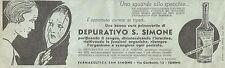 W6684 Depurativo San Simone - Pubblicità 1939 - Advertising