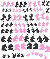 Unicorn Peel N Stick  Nail  stickers ( Black  and pink )
