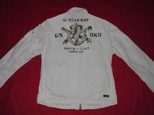 G - Star Motard Veste Manteau Parka Armée Style Blanc Militaire Vintage T: XL